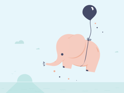 Little Elephant, balloon series #2
