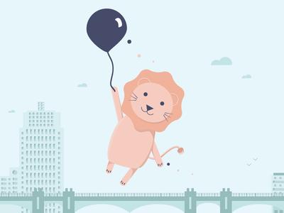 Cutie Lion, balloon series #3 illustration serie ballon lion