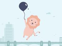 Cutie Lion, balloon series #3
