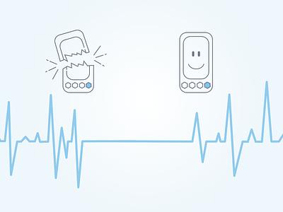 Pitzi phone heart monitor dataviz protection phone pitzi