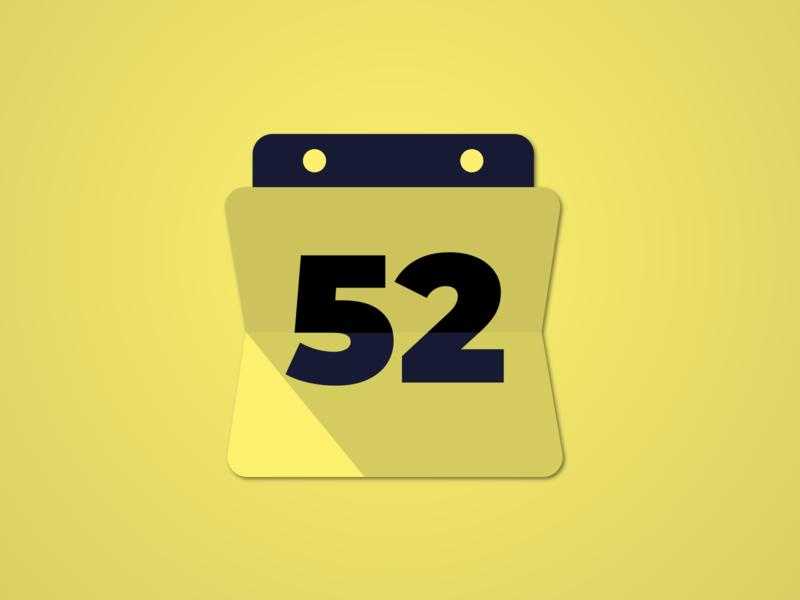 WeekNumber icon front end ui progressive web app webapp icon dataviz