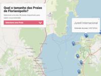 Qual o tamanho das praias de Florianópolis