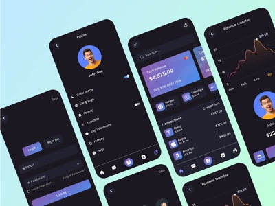 Finance Mobile Banking App android app ios app finance mobile banking app ui ui design banking app ui app design ui app design mobile banking app finance mobile banking app banking app design banking app