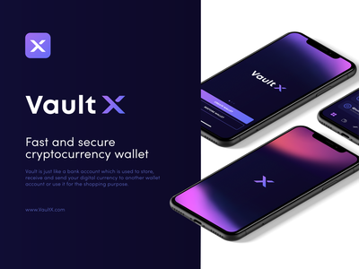 Vault X - Crypto logo mobile icon wallet app logo design interface coin cryptocurrency crypto wallet crypto wallet app ux ui logo design v letter v x letter x logo x