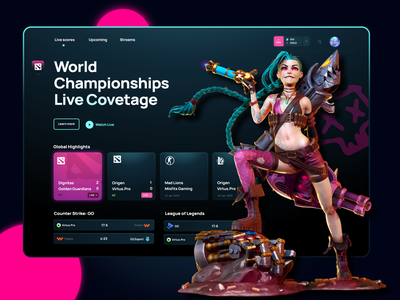 eSports Games 🎮 website web leagueoflegends league of legends dota2 games game esport match uxdesign ux  ui uxui ui design uidesign ui  ux uiux illustration design ux ui