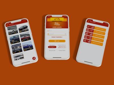 Taxi / Cab Booking App Screens booking app taxi booking app cab booking app ux ui design