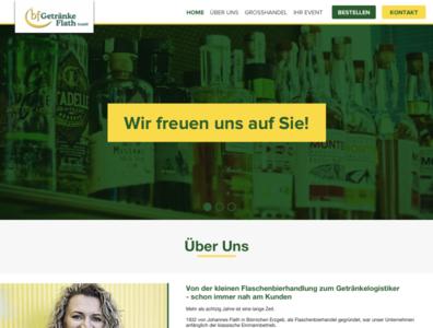 drink logistics website website ui