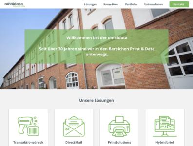 Omnidata redesign ui website