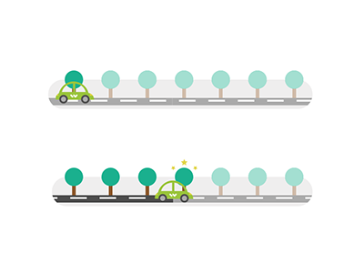 Loading bar.. driving car step by step progress bar loading