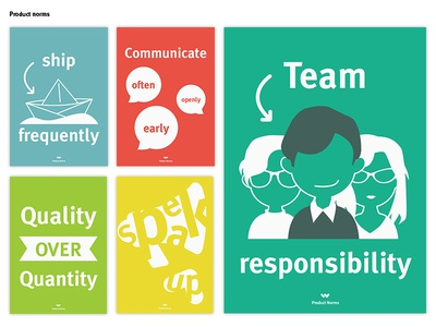 Product Norms ship quality communication team information rules poster product norms