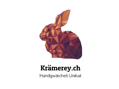 kraemere.ch in color handmade wood logo colored
