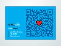 Business Card - Neorelic business card print cyan qr code 8-bit