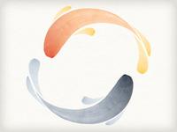 Koi Creative logo concept koi fish carp japanese watercolor japan watercolour swimming paint