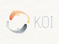 Finalised Koi logo koi fish carp japanese japan watercolor watercolour paint logo