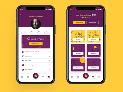 Bellman App (WIP) illustration logodesign ui  ux uidesign ui bellman bell
