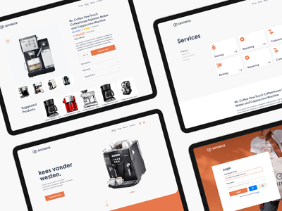 Caffeinated - Website UI Design web typography ux ui illustration branding caffeine caffeinated ecommerce design ecommerce coffee