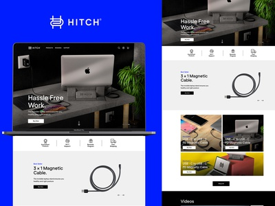 HITCH - Website UI Redesign design branding ecommerce design ecommerce tech cables cable egypt ui  ux ui hitch