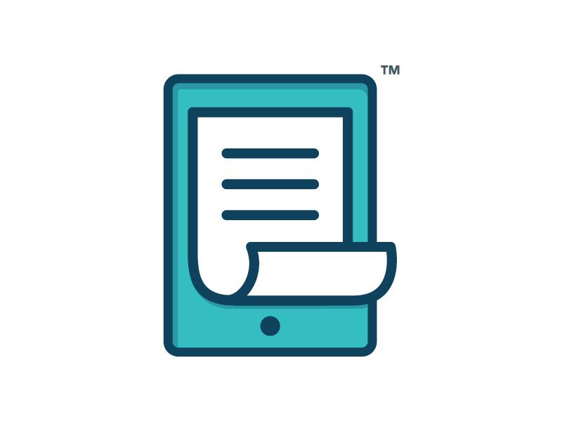 Mint - Educational App Logo paper ipad learning education