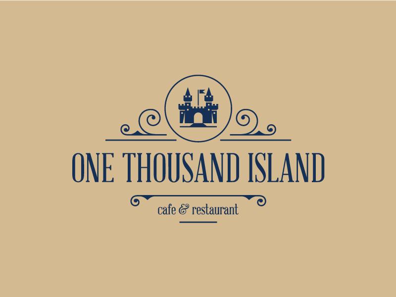 One Thousand Island logo sauce island castle cafe restaurant