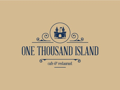 One Thousand Island logo sauce island castle cafe restaurant
