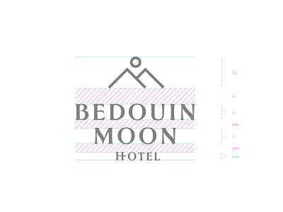 Bedouin Moon Hotel - Branding Identity Development egypt dahab branding line art mountain bedouin moon hotel