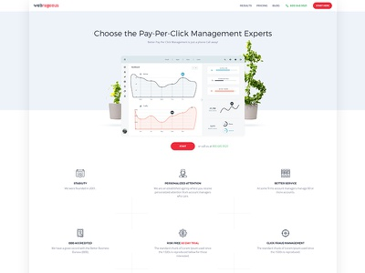 Pay Per Click Management platform UI/UX envaios modern touch uiux platform management pay per click
