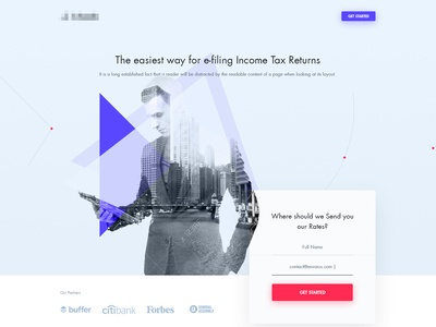 e-Filling Income Tax Landing Page