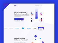 The Club - Landing Page Website Ui and UX