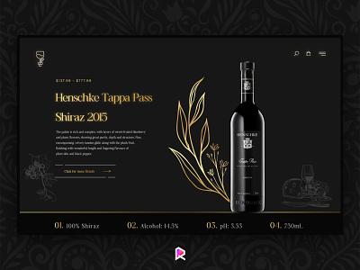 Shiraz Wine webdesign branding ux ui illustration rubi rubi studio website shiraz wine dark drink nuxt vue react vue.js javascript web web design webdesign shiraz wine