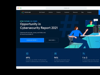 The Future is Cyber, 2021 download interactive uxui webdesign ux technology website research startup hiring inclusion empowerment iwd cyber security technology cybersecurity equality