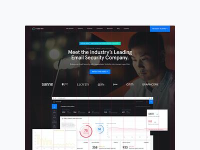 Tessian Website, — Homepage, 2021 ux branding b2b technology cybersecurity wordpress landing page microsite website