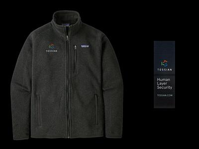 Tessian Brand System — Patagonia Fleece, 2021 b2b cybersecurity identity mockup fleece patagonia swag merch