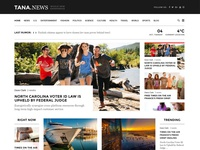 Tana Magazine - Newspaper, Music. Movie, Fashion Theme