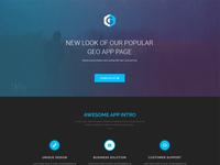 GEO PLUS App Landing Page Theme