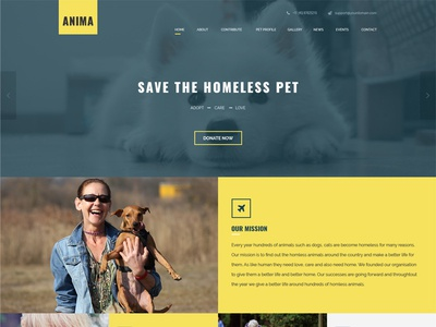 Animal Shelter And Pet Rescue Theme fundraising ngo non-profit charity pet rescue animal shelter
