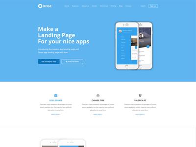 Dodge App Landing Page Template clean minimal multipurpose web apps apps app app landing