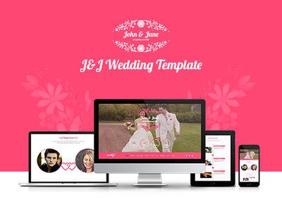 Re-Design: J&J Wedding Event & Celebration Agency Template creative rsvp wedding planner celebration wedding event wedding