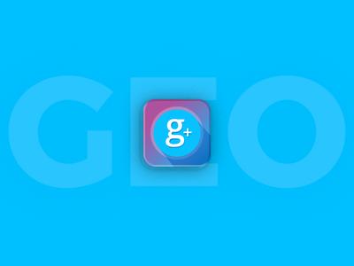 GEO Plus App Icon Design branding logo app icon app landing
