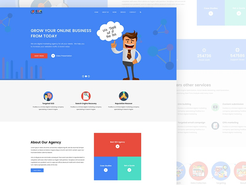 Material Design Seo Digital Marketing Template By Code Passenger