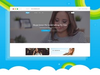 Skype Web UI Re-design Concept