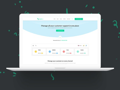 Helpdesk App Landing Page Template - SaaSera presentation app app landing saasera saas helpdesk help