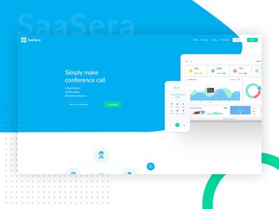 Call Conference SaaS Template - SaaSera web ui service software application web app app saas