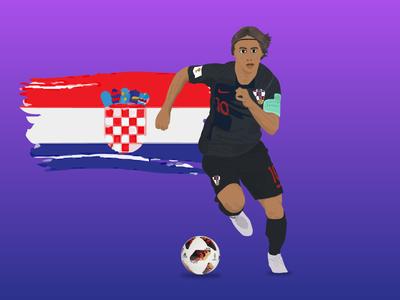 Luka Modric Soccer / Football Player Illustration sketch art cartoon face star football soccer illustration