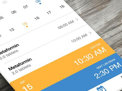 Scheduling Calendar simple schedule layered info calendar