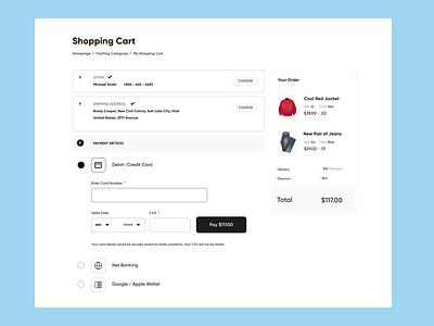 06. Shopping Cart UI cart shopping concept minimal design web ui