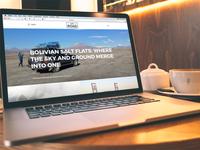 The Road Travel Blog // Website Design