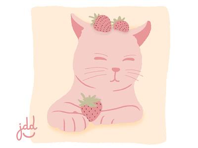 Cute Pink Cat lindo pastel graphic design photoshop art dibujo design ilustraciondigital illustration