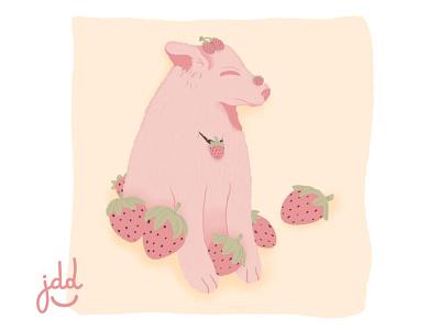 Cute Pink Cheems graphic design dibujos photoshop art dibujo design ilustraciondigital illustration