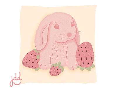 Cute pink rabbit dibujos photoshop art dibujo design ilustraciondigital illustration