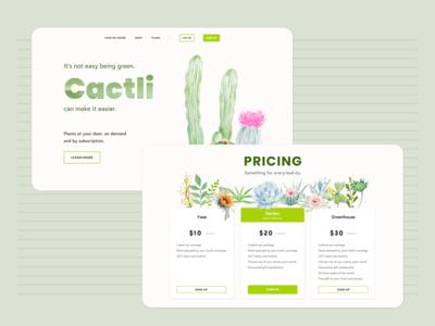 Cactli - Plant Subscription Concept
